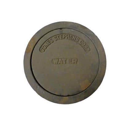 11-1/4 in. O.D. Cast Iron Water Lid and Ring for 8 in. Sewer Box
