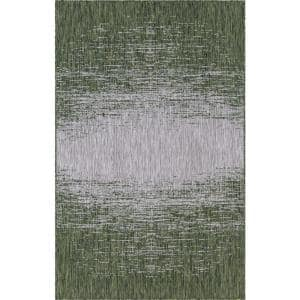 Green Ombre Outdoor 5 ft. x 8 ft. Area Rug