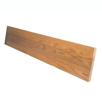 0.75 in. x 7.5 in. x 60 in. Prefinished Gunstock Red Oak Riser