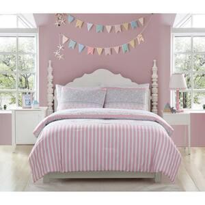 2-Piece Ellie Stripped Twin Comforter Set