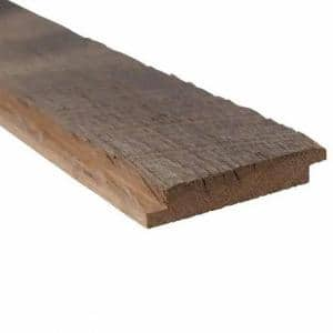 5/8 in. Thick x 5 in. W x Varying Lengths Brown and Gray Weathered Barn Wood Shiplap Plank (20 sq. ft/Pack)