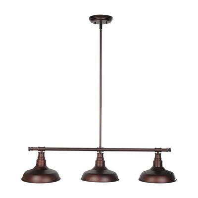 Kimball 3-Light Textured Coffee Bronze Indoor Pendant