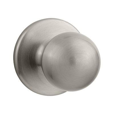 Polo Satin Nickel Hall/Closet Door Knob Featuring Microban Antimicrobial Technology