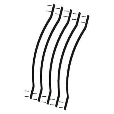 32-1/4 in. x 1 in. Black Aluminum Bow Deck Railing Baluster (5-Pack)