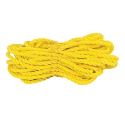 3/8 in. x 50 ft. Twisted Polypropylene Rope in Yellow