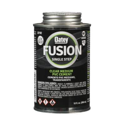 Fusion One-Step 10 oz. Clear PVC Cement