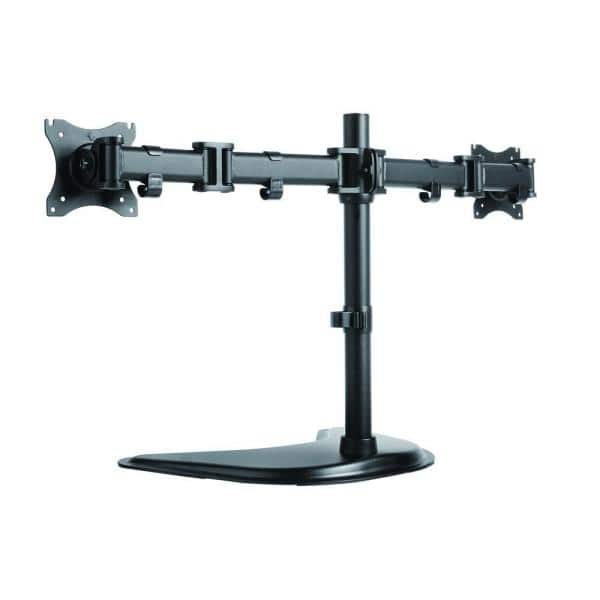 Proht Dual Monitor Desk Mount Arm For 13 In 27 In Screens Holds 2 Monitors 45 Degree Tilt 17 6 Lb Capacity 05308 The Home Depot
