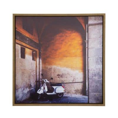 Le Velo II 32 in. x 32 in. Framed Photo by Veronica Olson Printed on Canvas