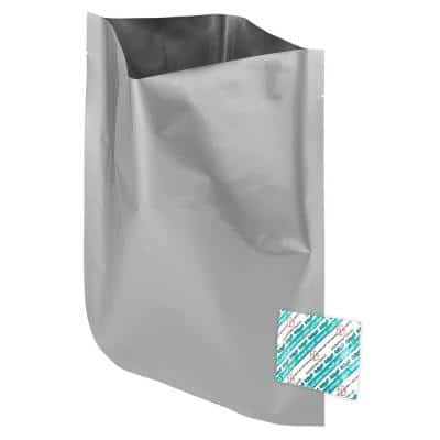 1 gal. 10 in. x 14 in. Mylar Foil Insulated Bags and 300cc Oxygen Absorbers (60-Pack)