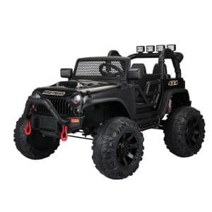 12-Volt Kids Ride On Jeep with Remote Control, Black