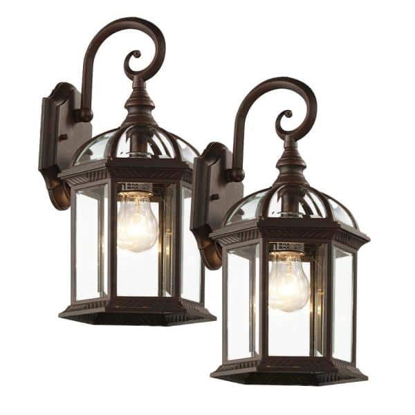 Light Rust Outdoor Wall Lantern Sconce, Outdoor Sconce Lighting Reviews