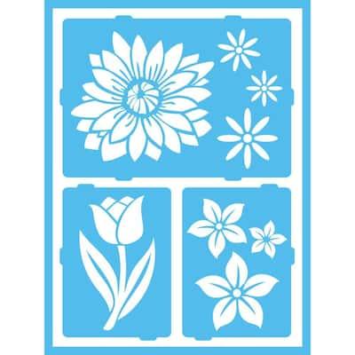 Floral Breeze Self-Adhesive Stencil