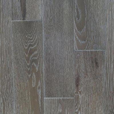 Take Home Sample - Oak Driftwood Wire Brushed Solid Hardwood Flooring - 5 in. x 7 in.
