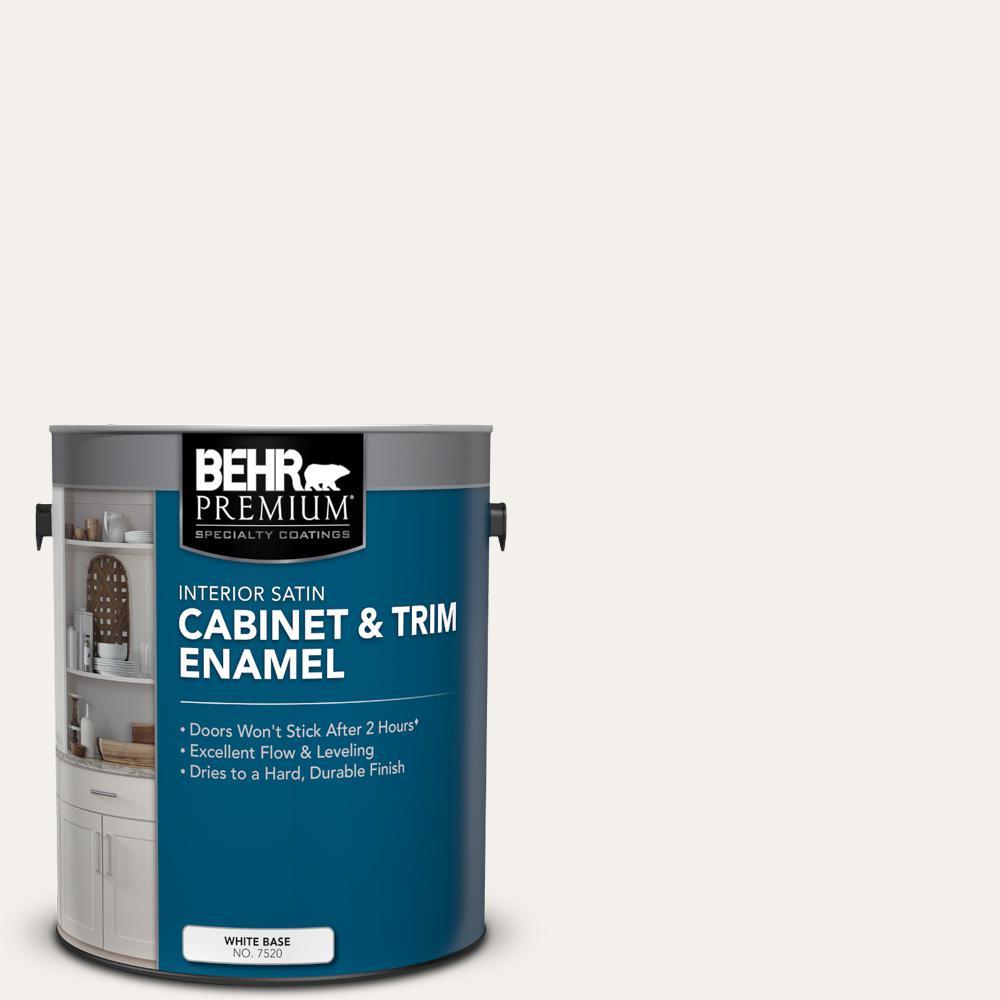 1 gal. #HDC-MD-06 Nano White Satin Enamel Interior Cabinet and Trim Paint