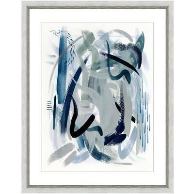 """""""Dark waters II"""" Framed Archival Paper Wall Art (20 in. x 24 in. in full size)"""