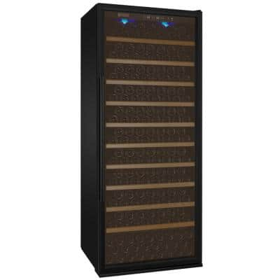 Vite II Tru-Vino Single Zone 277-Bottle Black Right Hinge Wine Refrigerator