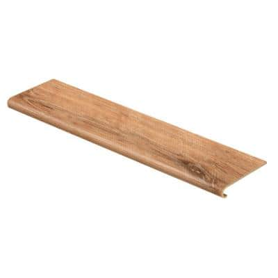Fresh Oak/Elk Wood 94 in. L x 12-1/8 in. W x 1-11/16 in. T Vinyl Overlay to Cover Stairs 1 in. Thick