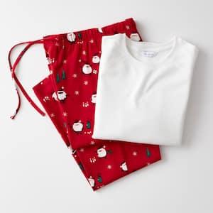 Family Flannel Company Cotton Men's XXL Pajama Set in Santa