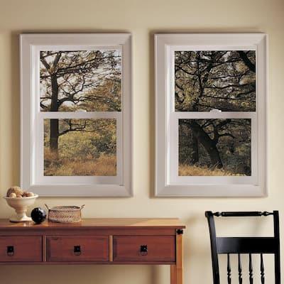 35.5 in. x 35.5 in. V-2500 Series White Vinyl Single Hung Window with Fiberglass Mesh Screen
