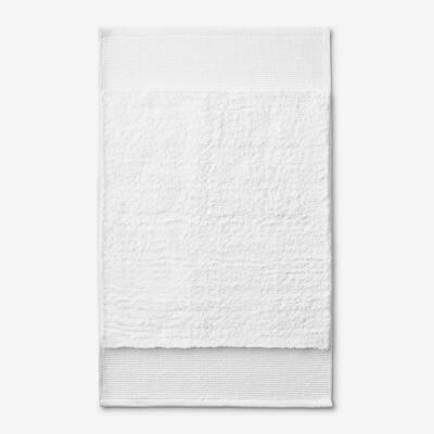 Organic White 21 in. x 34 in. Cotton Bath Rug