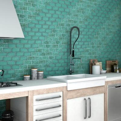 Antic Special Lava Verde 3 in. x 6 in. Ceramic Wall Subway Tile (4.38 sq. ft. / Case)