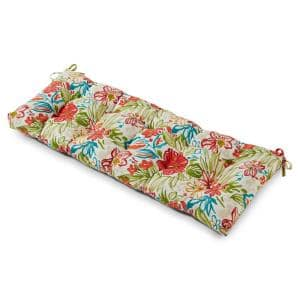51 in. x 18 in. Breeze Floral Rectangle Outdoor Bench Cushion