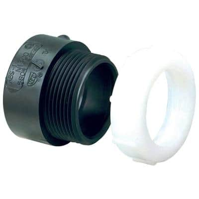 1-1/2 in. ABS DWV Hub x Slip-Joint Trap Adapter