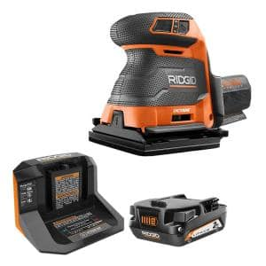 18V OCTANE Brushless Cordless 1/4 in. Sheet Sander Kit with (1) 2.0 Ah Battery and Charger