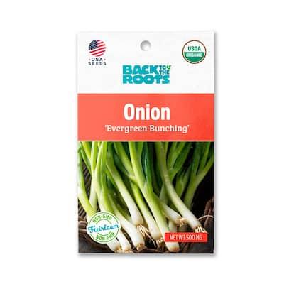 Organic Evergreen Bunching Onion Seed (1-Pack)