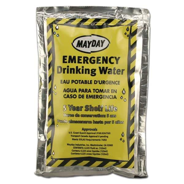 MAYDAY 73011 Emergency Drinking Water,4.22 oz.,PK100