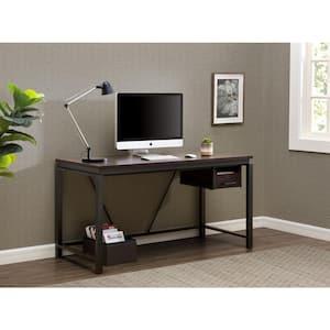 Studio Space 58 in. Rectangular Brown Inspire Workbench Standing Desk