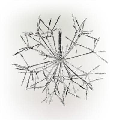 16 in. Tall Holiday 3D Snowflake Multicolor Hanging Ornament with LED Lights