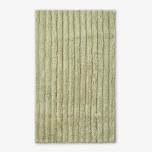 Green Earth Quick Dry Dill 24 in. x 40 in. Solid Cotton Bath Rug