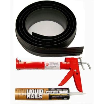 10 ft. 3 in. Black Garage Door Threshold Kit