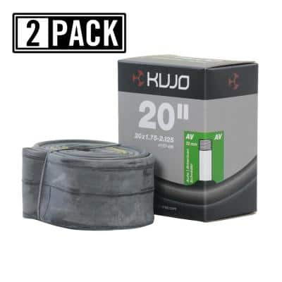 20 in. x 1.75 in./2.125 in. Schrader (American) 35 mm Bicycle Tube (2-Pack)
