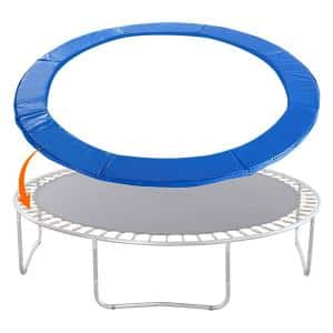 14 ft. Trampoline Pad Accessories Replacement Safety Pad Mat Bounce Frame Waterproof Spring Cover in Blue