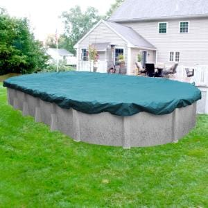 Guardian 18 ft. x 40 ft. Oval Teal Blue Winter Pool Cover
