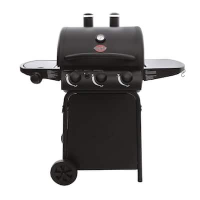 3-Burner Propane Gas Grill in Black