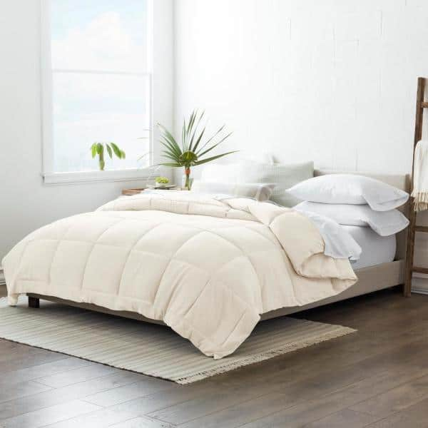 Becky Cameron Performance Ivory Solid King Comforter