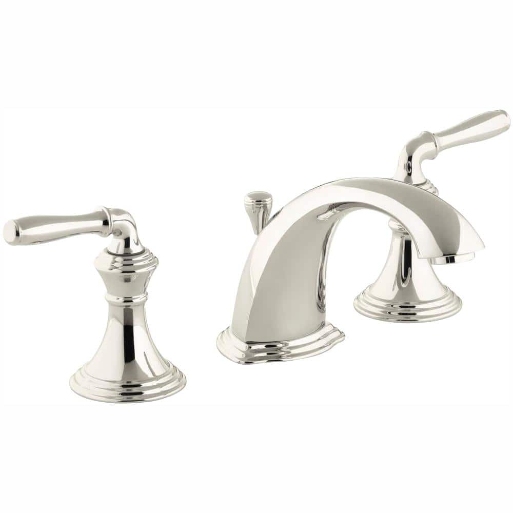 Kohler Devonshire 8 In Widespread 2 Handle Low Arc Bathroom Faucet In Vibrant Polished Nickel K 394 4 Sn The Home Depot