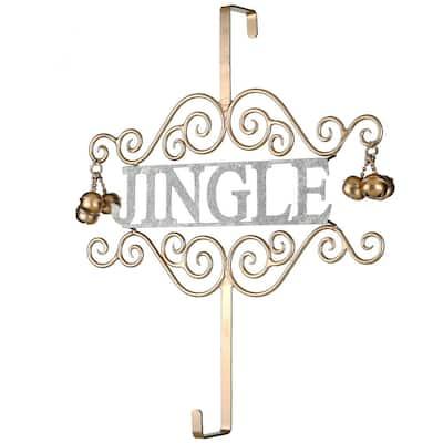 """18 in. Christmas """"JINGLE"""" Wreath Hanger"""