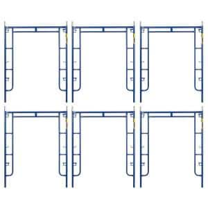 Saferstack 6.4 ft. x 5 ft. Mason Walk-Through Arch Scaffold Frame (6-Pack)