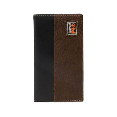 Teak Men's Leather Long Bifold Rodeo Wallet with RFID
