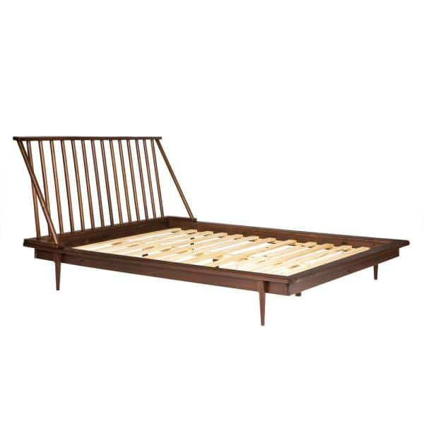 Walker Edison Furniture Company Solid, Walnut Spindle Bed Queen