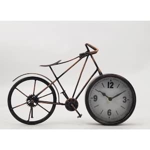 Bronze Metal BIKE Table Clock