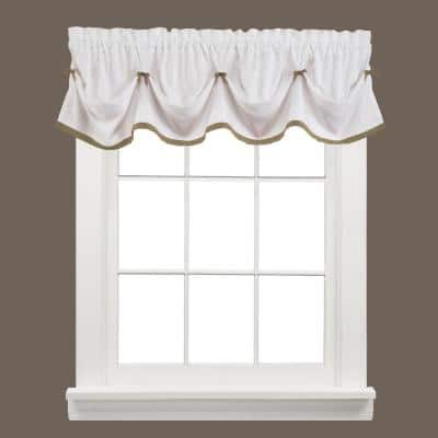 Kate 13 in. L Polyester Valance in Taupe