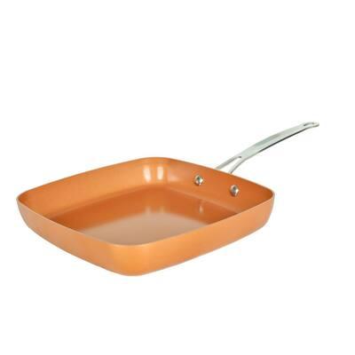 Original Copper Pan 9.5 in. Aluminum Nonstick Frying Pan in Copper