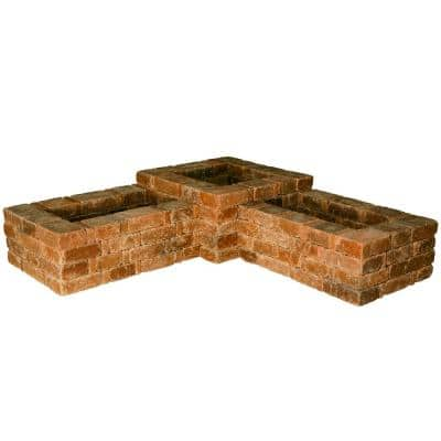 RumbleStone 73.5 in. x 17.5 in. x 73.5 in. Concrete 90° Planter Kit in Sierra Blend