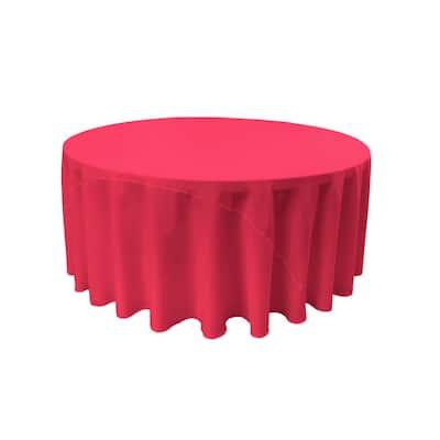 120 in. Fuchsia Polyester Poplin Round Tablecloth