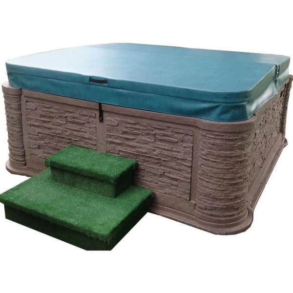 Beyondnice 75 In X 75 In Hot Tub Spa Cover For Dream Maker X 500 5 In 3 In Thick 8 In Radius Corners In Brown D1860 5 Brown The Home Depot
